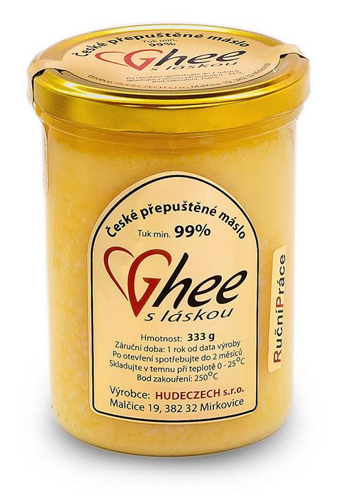 Přepuštěné máslo - ghee, ghíčko-ghí-333 g / 440 ml