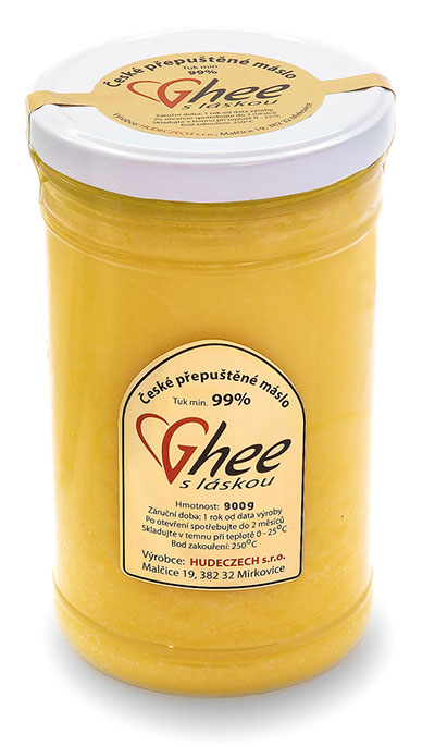 Přepuštěné máslo - ghee, ghíčko-ghí-900 g / 1053 ml gastro balení