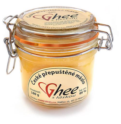 Přepuštěné máslo - ghee, ghíčko-ghí-180 g / 260 ml dárkové balení